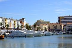 Luxury yachts in Vilamoura Marina Stock Images
