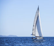 Luxury Yachts. Yachting in the Mediterranean Sea. Royalty Free Stock Photo