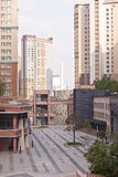 Luxury yard of apartment complex in the Astana, Kazakhstan Royalty Free Stock Photos