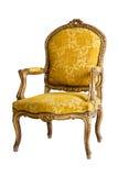 Luxury Yellow Armchair Stock Photography