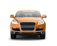 Luxury yellow crossover front view Stock Images
