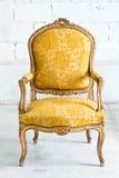 Luxury Yellow sofa Armchair Stock Images