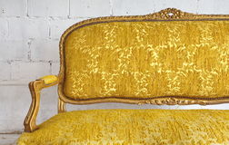 Luxury yellow sofa Stock Photography