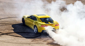 Luxury yellow sport car Royalty Free Stock Images
