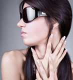 Luxury Young Woman with sunglasses Stock Photo
