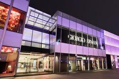 Luxus-Armani-Ausgang nachts, Dalian, China Lizenzfreie Stockfotografie
