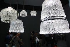 Luxus-colletion des geblasenen Glasleuchters Stockfotos