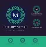Luxus-Logo Letters Lizenzfreie Stockbilder