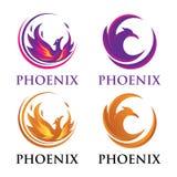 Luxus-Phoenix-Logo lizenzfreie stockfotografie