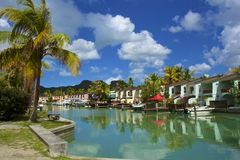 Luxus-Resort in Antigua lizenzfreie stockfotografie