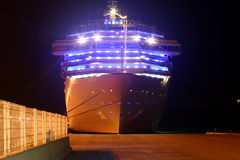 Luxus ship. In habor with lights Royalty Free Stock Photography