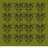 Luxus-vint VERZIERUNGEN olivgrüner Hintergrund, Muster lizenzfreie abbildung