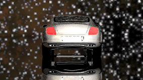 Luxusauto unter den Sternen stock footage