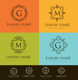 Luxusbuchstabe-Logo Lizenzfreies Stockfoto