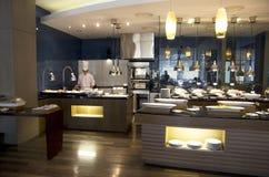 Luxusbuffetrestaurant Lizenzfreie Stockfotografie