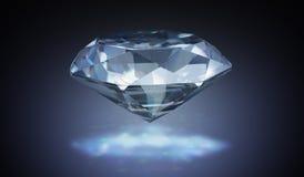 Luxusdiamant auf schwarzem Hintergrund 3D übertrug Abbildung Lizenzfreies Stockbild