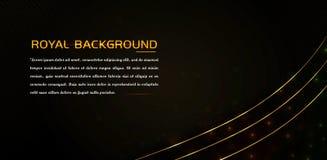 Luxuselement mit glänzendem Goldeffekt und glühenden Linien stock abbildung