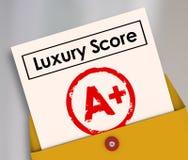 Luxusergebnis A plus Schulzeugnis-Grad-Reichtum Rich Living Condition Lizenzfreie Stockfotos