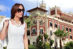 Luxusfrauenpalastgarten Stockbild