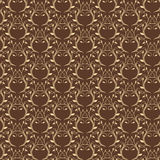 Luxusgoldnahtloses Muster stock abbildung