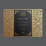 Luxushochzeitseinladungs- oder -grußkarte mit Weinlese Blumeno lizenzfreie stockbilder