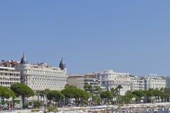 Luxushotel InterkontinentalCarlton Cannes Stockfotos