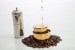 Luxuskaffee stockfoto