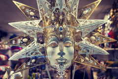 Luxuskarnevalsmaske in Venedig Stockbild