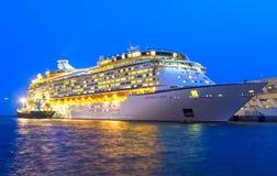 Luxuskreuzschiff Stockbild
