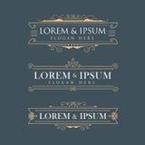 Luxuskronenrahmenvektor-Logokalligraphie blüht elegantes t Stockfotos