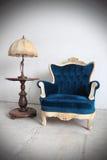 Luxuslehnsessel 2 der blauen Weinlese Lizenzfreie Stockfotografie