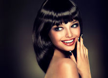 Luxusmodeart, Nägel maniküren, Kosmetik, Make-up lizenzfreies stockbild
