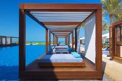 Luxusplatzerholungsort und -badekurort Stockbilder