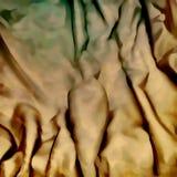 Luxusstoff des abstrakten Hintergrundes oder gewellte Falten des goldenen materia Stockfotos