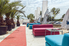 LUXUSstrand-TERRASSE Stockbilder