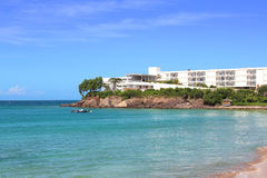 Luxusufergegenderholungsort, Guadeloupe Lizenzfreies Stockbild