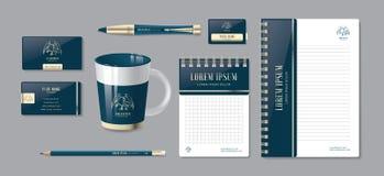 Luxusunternehmensidentitä5 Editable Unternehmensidentitä5sschablone Briefpapierschablonendesign lizenzfreie abbildung