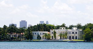 Luxusvilla in Miami Stockfoto