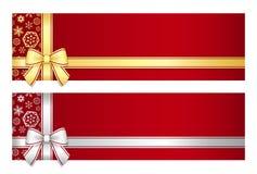Luxusweihnachtsgutschein mit Goldenem oder s Lizenzfreies Stockfoto