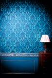 Luxusweinleseinnenraum mit dem blauem Tonen Lizenzfreies Stockfoto
