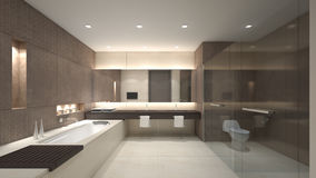LuxusWiedergabe wC/3D Lizenzfreies Stockbild