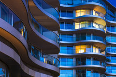 Luxuswohnungen in London, Großbritannien Stockfotografie