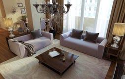 Luxuswohnzimmer, Esszimmer, Art- DecoArt