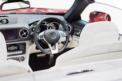 Luxuxautoinnenraum lizenzfreie stockfotos