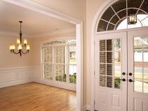 LuxuxFoyer mit gewölbter Glastür 2 Stockbilder