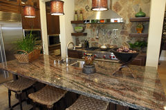 Luxuxhauptküche Stockfotografie