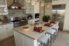 Luxuxhauptküche stockfoto