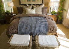 Luxuxhauptschlafzimmer Stockfoto