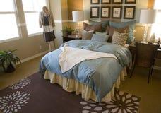 Luxuxhauptschlafzimmer. Stockfoto