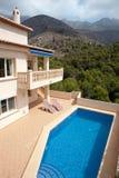 Luxuxlandhaus in Spanien Stockfotografie